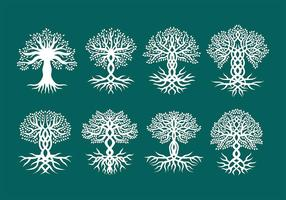 Vectores celtas de los árboles