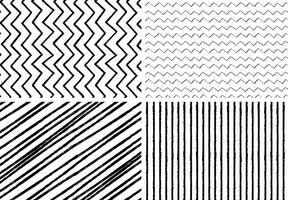 Hand Drawn Style Seamless Patterns vector