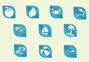 Icônes plage