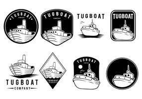 Tugboat badge set