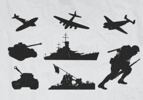 Weltkrieg 2 Flugzeugvektoren