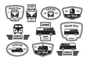 Vintage etikett klassisk bil