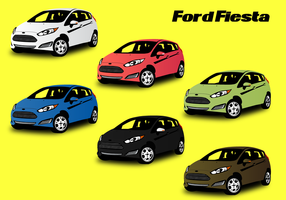Gratis Ford Fiesta Car Vector