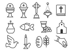 Free Sacraments Icon Set vector