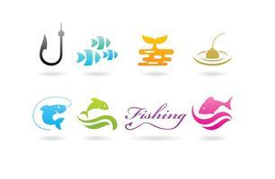 Gädda fiske logotyper
