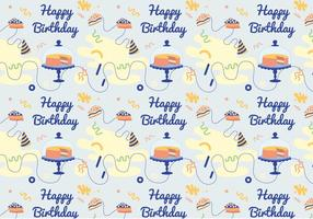 Vector-birthday-pattern