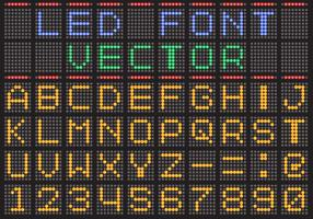 Led Screen Vector Font