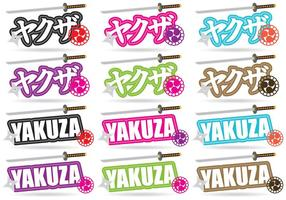 Yakuza Titles vector