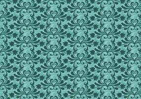 Free Vector Teal Western Flourish Pattern