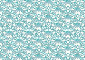 Vector libre Soft Blue Flourish patrón occidental