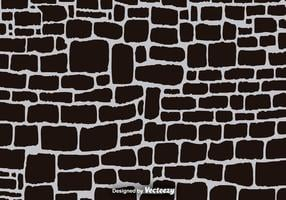 Fond noir vecteur de mur de pierre dessinée