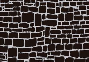 Zwarte Cartoon Stone Wall Vector Achtergrond