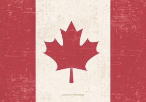 Old Grunge Flag of Canada vector