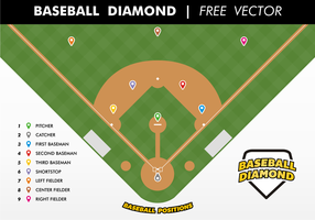 Vector livre de diamante baseball