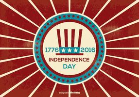 Retro Independence Day Illustration vector
