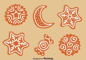 Christmas Set Ginger Bread Set Vector