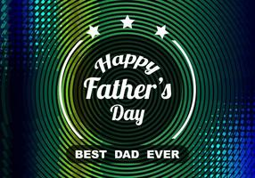 Free Vector Colorful Father's Day Celebration Background