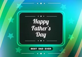 Free Vector Shiny Colorful Father's Day Background