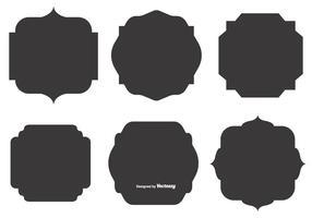 Lege Vector Labelvormen