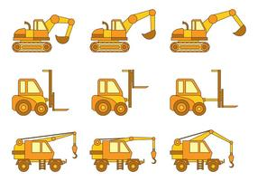 Set Of Skid Steer Vector