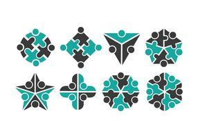Arbeta tillsammans Logo vektorer