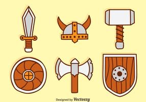 Barbarian Element Cartoon Icons