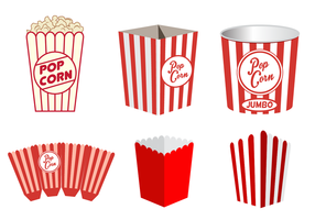 Popcorn Box Vector
