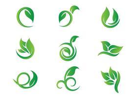 Gratis Leaf Hojas Logo Vektorer