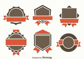 Blank Badge Template Vector