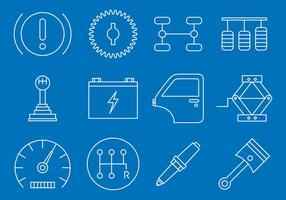 Vehicle Maintenance Icons vector
