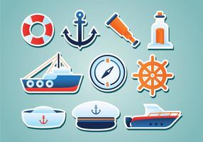 Free Nautical Pegatinas vector