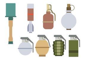 Vetor de granadas da Segunda Guerra Mundial