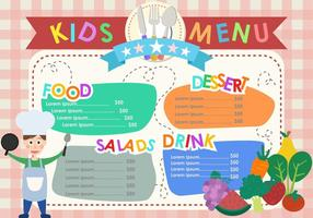 Modelos de menus para crianças