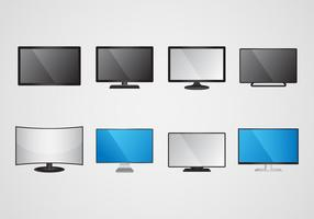 Gratis Led Screen Monitor Vector