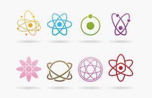 Logos Atom vetor