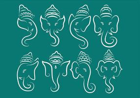 Logos Ganesh vetor