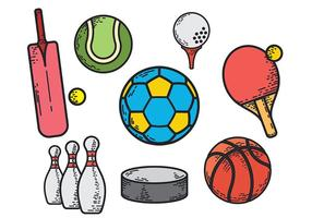 Ballons de sport vectoriel gratuits