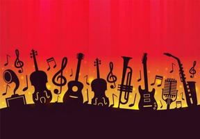 Free Music Background Vector