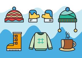 Vector de abrigo de invierno gratis 3