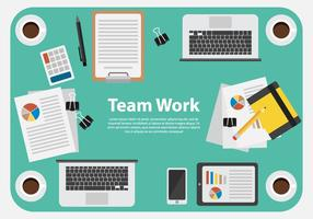 Business Team Work Illustration Vector