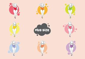 Plus Size Woman Vector