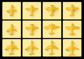 Avion Flugzeug icon flaches Design