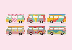 Hippie bus vector