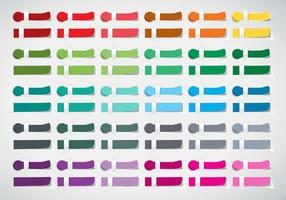 Colour Swatches Publicité Sticker Design Vector