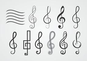 Free Treble Clefs vector