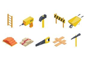 Free Isometric Bricklayer Vector