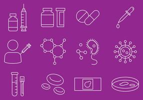 Disease And Virus Icons vector