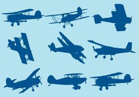 Silhouettes de biplan