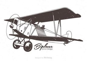 Free Biplane Vector Illustration