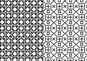 Black White Geometric Pattern vector